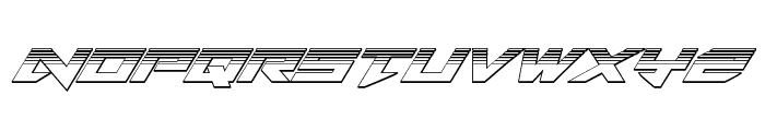 Tarrget Platinum Italic Font LOWERCASE