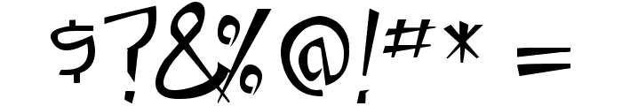 Taste of steel Font OTHER CHARS