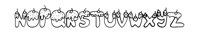 TastySundae Font UPPERCASE