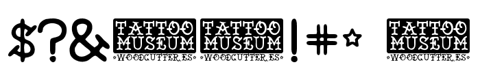 Tattoo Museum Font OTHER CHARS