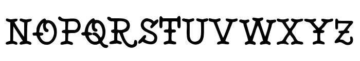 Tattoo Museum Font UPPERCASE