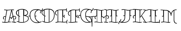 TattooLetteringOpen Font UPPERCASE