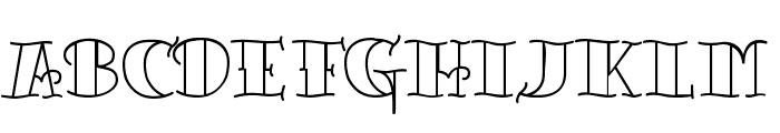 TattooLetteringOpen Font LOWERCASE