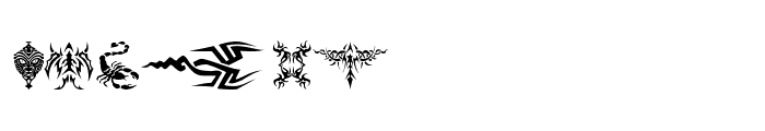 Tattoo Font LOWERCASE