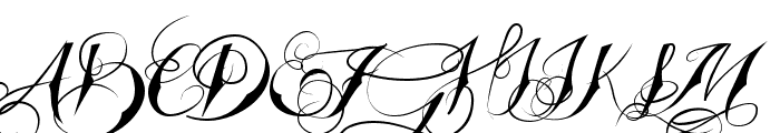 Tattooed Wedding Font UPPERCASE