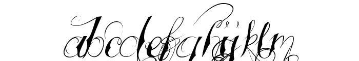 Tattooed Wedding Font LOWERCASE