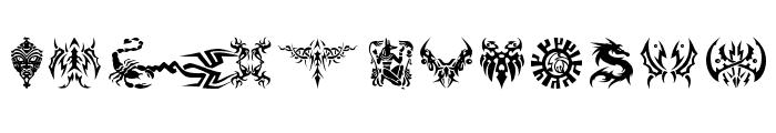 Tattoolike Font UPPERCASE