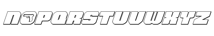 Tauro 3D Italic Font UPPERCASE
