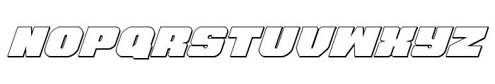 Tauro 3D Italic Font LOWERCASE