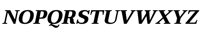 Taviraj Bold Italic Font UPPERCASE