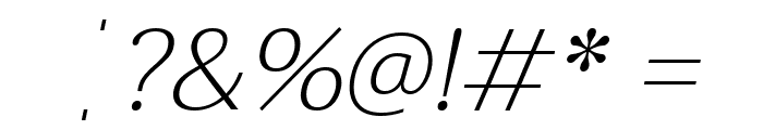 Taviraj ExtraLight Italic Font OTHER CHARS