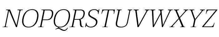 Taviraj ExtraLight Italic Font UPPERCASE