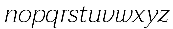 Taviraj ExtraLight Italic Font LOWERCASE