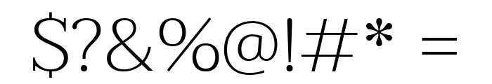 Taviraj ExtraLight Font OTHER CHARS