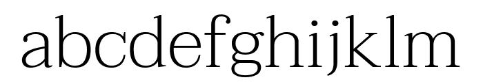 Taviraj ExtraLight Font LOWERCASE