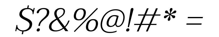 Taviraj Light Italic Font OTHER CHARS