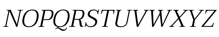 Taviraj Light Italic Font UPPERCASE