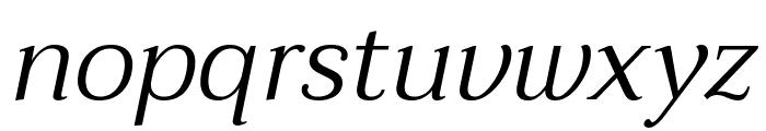 Taviraj Light Italic Font LOWERCASE