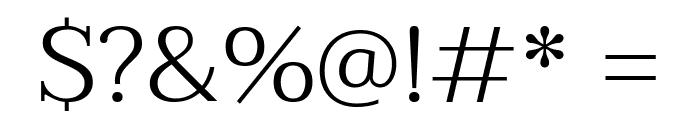 Taviraj Light Font OTHER CHARS