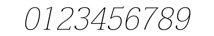 Taviraj Thin Italic Font OTHER CHARS