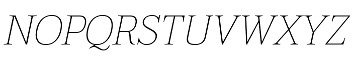 Taviraj Thin Italic Font UPPERCASE