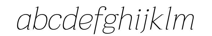 Taviraj Thin Italic Font LOWERCASE