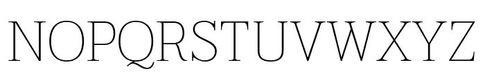 Taviraj Thin Font UPPERCASE