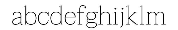 Taviraj Thin Font LOWERCASE