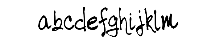 tabor handwriting Font LOWERCASE