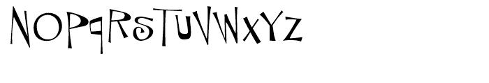 Tanked Regular Font LOWERCASE