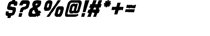 Tapeworm Solid Oblique Font OTHER CHARS