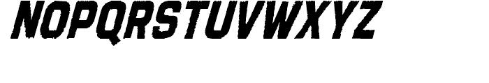Tapeworm Solid Oblique Font UPPERCASE