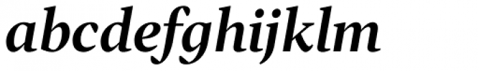 Tabac G2 SemiBold Italic Font LOWERCASE