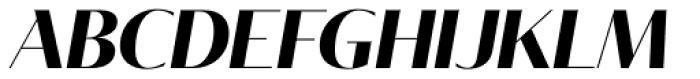 Tabac Glam G1 Bold Italic Font UPPERCASE