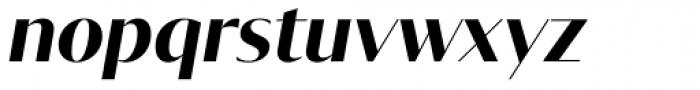 Tabac Glam G1 Bold Italic Font LOWERCASE