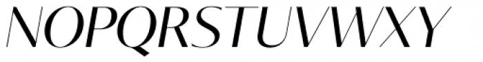 Tabac Glam G1 Italic Font UPPERCASE