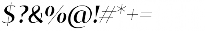 Tabac Glam G1 Medium Italic Font OTHER CHARS