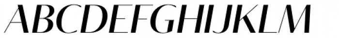 Tabac Glam G1 Medium Italic Font UPPERCASE