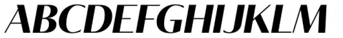 Tabac Glam G2 Bold Italic Font UPPERCASE