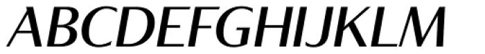 Tabac Glam G4 Medium Italic Font UPPERCASE
