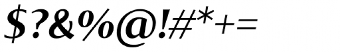 Tabac Glam G4 Semi Bold Italic Font OTHER CHARS