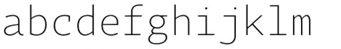 Tabac Mono Thin Font LOWERCASE