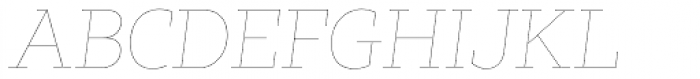 Tabac Slab Hair Italic Font UPPERCASE