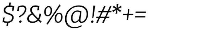 Tabac Slab Light Italic Font OTHER CHARS
