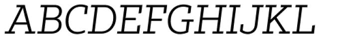 Tabac Slab Light Italic Font UPPERCASE