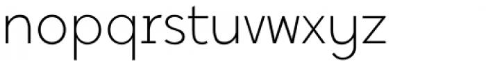 Tabela Ultra Light Font LOWERCASE