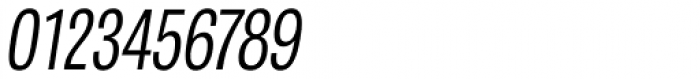 Tablet Gothic Compressed Light Oblique Font OTHER CHARS