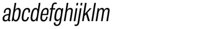 Tablet Gothic Compressed Light Oblique Font LOWERCASE
