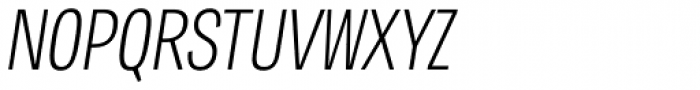 Tablet Gothic Compressed Thin Oblique Font UPPERCASE