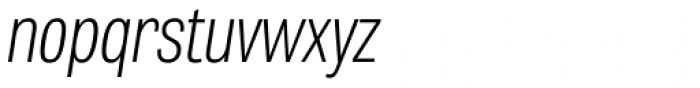 Tablet Gothic Compressed Thin Oblique Font LOWERCASE